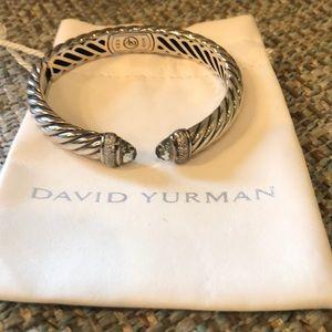 David Yurman Prasolite and Diamond Bracelet